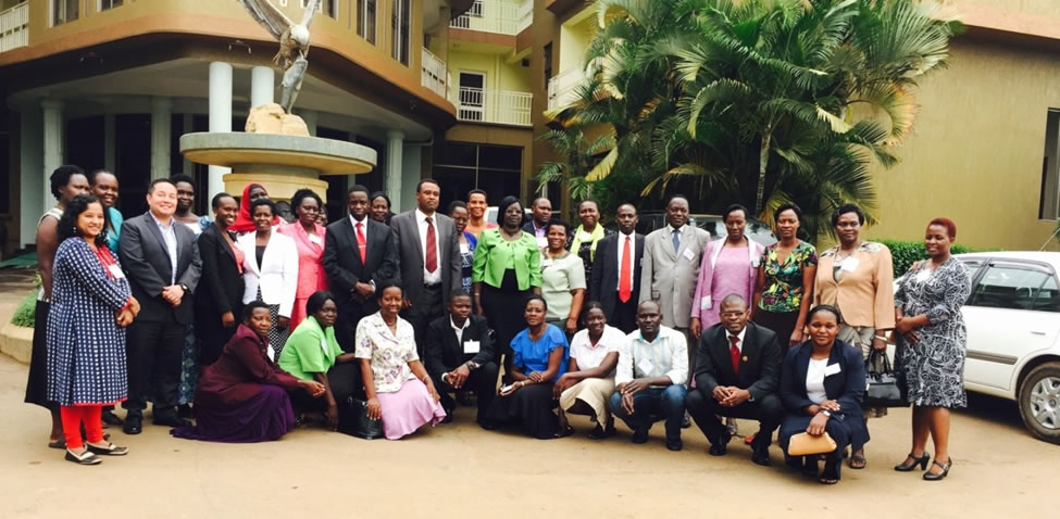 Workshop participants in the group photo, Ridar Hotel Kampala Uganda